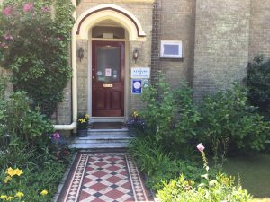 Front entrance to the Kenbury Bed and Breakfast